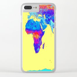 world mAP Colorful Clear iPhone Case