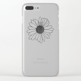 Daisy Stripe Clear iPhone Case
