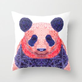 Don't Be Scared To Be Different If You're Already Rare (Panda Animal Painting Stippled Pop Art) Throw Pillow