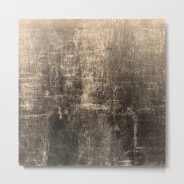 Gold Crinkled Paper Metal Print