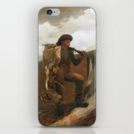 Winslow Homer, A Huntsman and Dogs, 1891 iPhone Skin
