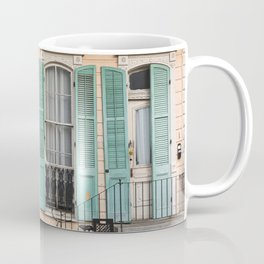 Colorful New orleans architecture and vintage bicycle Coffee Mug