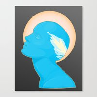 android Canvas Prints featuring Android by Kris Hawkins