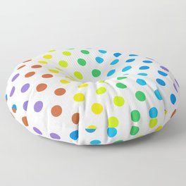 Polka-Dot Rainbow - Modern Abstract Artwork Floor Pillow