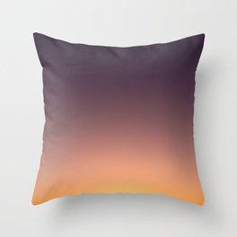 LA sunset sky gradient 041 Throw Pillow
