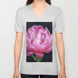 Romantic Pink Peony Unisex V-Neck