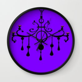 A Chandler with a Purple Background Wall Clock