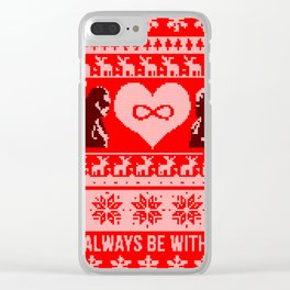 Clexa Christmas Clear iPhone Case