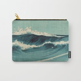Japan Waves Beautiful sea with Blue Pattern Carry-All Pouch
