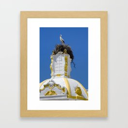 Baroque stork's nest Framed Art Print