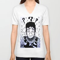 clueless V-neck T-shirts featuring Clueless? by Drab