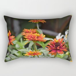 Orange Dahlias Rectangular Pillow