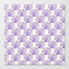 Sea Shells: Purple Canvas Print