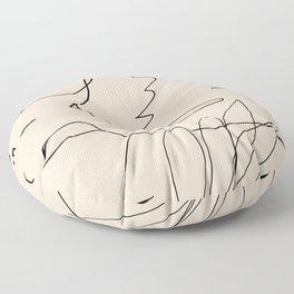 Abstraction_NEW_BIRD_DOODLE_POP_ART_Minimalism_001D Floor Pillow