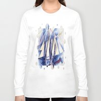 sail Long Sleeve T-shirts featuring Sail Movements by taiche