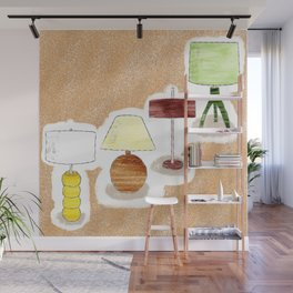 Seventies Lamp Foursome Wall Mural