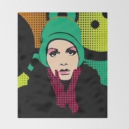 """Twiggy Pop Color"" Throw Blanket"