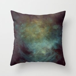In the deep blue sea or far away in the universe Throw Pillow