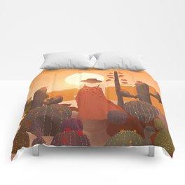 Beauty in the desert Comforters