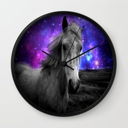 Horse Rides & Galaxy Skies Wall Clock