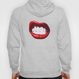 Lips kiss party red pink red lick wedding teeth smile swag Hoody