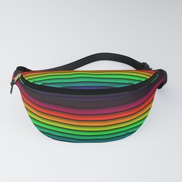 Spectrum - Rainbow Stripes - Colorful - Manafold Art Fanny Pack