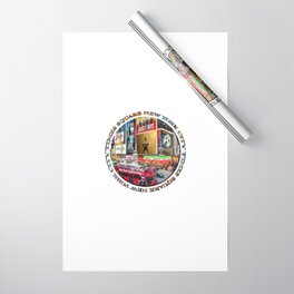 Times Square New York City (badge emblem on white) Wrapping Paper