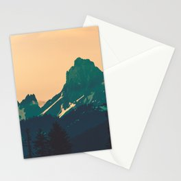 Cascade Mountains Sunset Stationery Cards