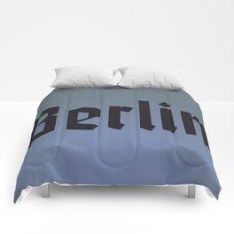 Berlin Fracture Font Comforters