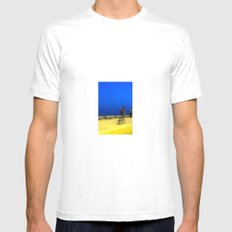 AL ANOCHECER White Mens Fitted Tee MEDIUM