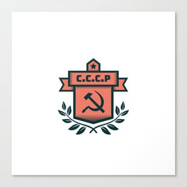 CCCP Modern Coat of Arms Canvas Print