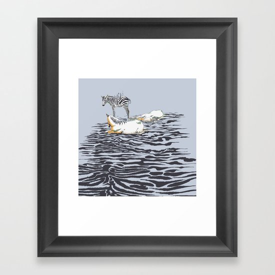 RESTING WITH YOU Framed Art Print