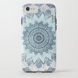 BOHOCHIC MANDALA IN BLUE iPhone Case