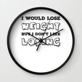 Sarcastic Body Humor Women Love To Eat Gift Wall Clock