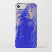 kate moss iPhone & iPod Cases featuring double Kate blues (kate moss) by Kiki collagist