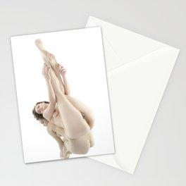 9412-KMA Nude Woman on Mirror Legs Feet Up High Key Fine Art Stationery Cards