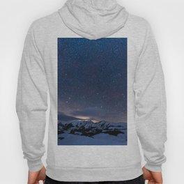 Arctic Night Sky With Bright Stars Blue And Orange Sky Hoody