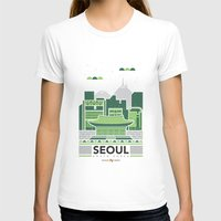seoul T-shirts featuring City Illustrations (Seoul, South Korea) by Nuthon Design