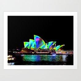 Sydney Opera House Vivid Light Show Art Print
