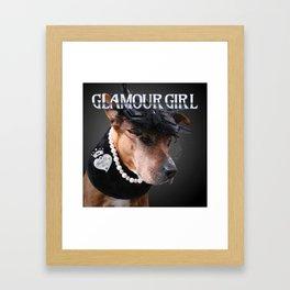 Glamour Girl Framed Art Print
