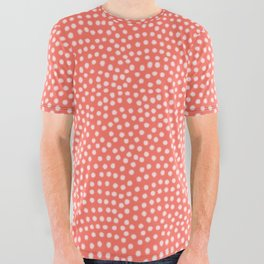 Living Coral Samekomon Spring All Over Graphic Tee