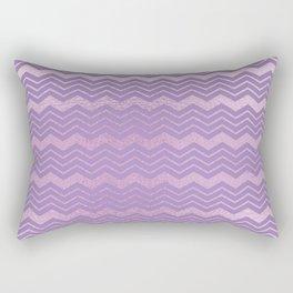 Modern lavender lilac geometrical chevron motif Rectangular Pillow
