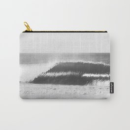 Black and White Wave Carry-All Pouch