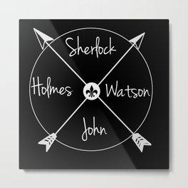 Holmes'Watson(white) Metal Print