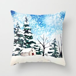 Flurries  Throw Pillow