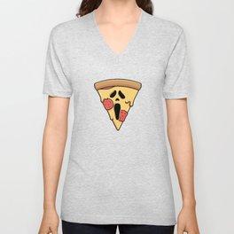 Scary Pizza Unisex V-Neck