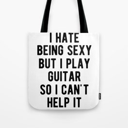 Sexy Bass Guitarist Funny Rock Band Graphic Tote Bag