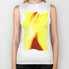 Abstract Art - Yellow & Red Biker Tank