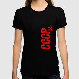 CCCP Red Soviet Union Russian KGB Hammer And Sickle T-shirt