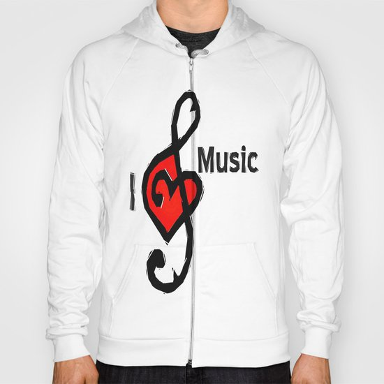 I love music Hoody